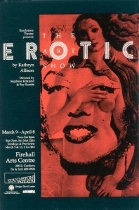 Erotic poster, Touchstone Theatre, 1995